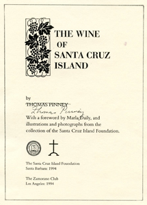 The Wine of Santa Cruz Island